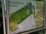 Karte des Französischen Garten